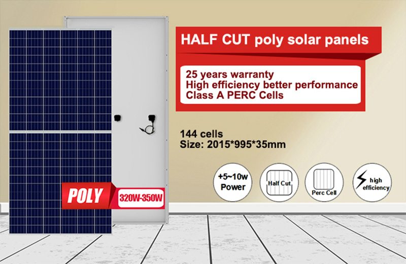 5BB 120 half cells solar panels poly 320w-350w5