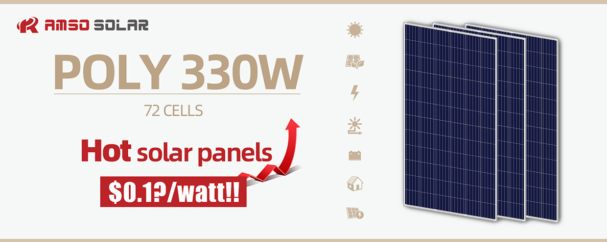 72 cells standard size mono black solar panels 330w5